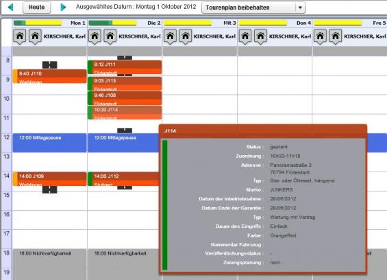Opti-Time RMS - Wochenplan